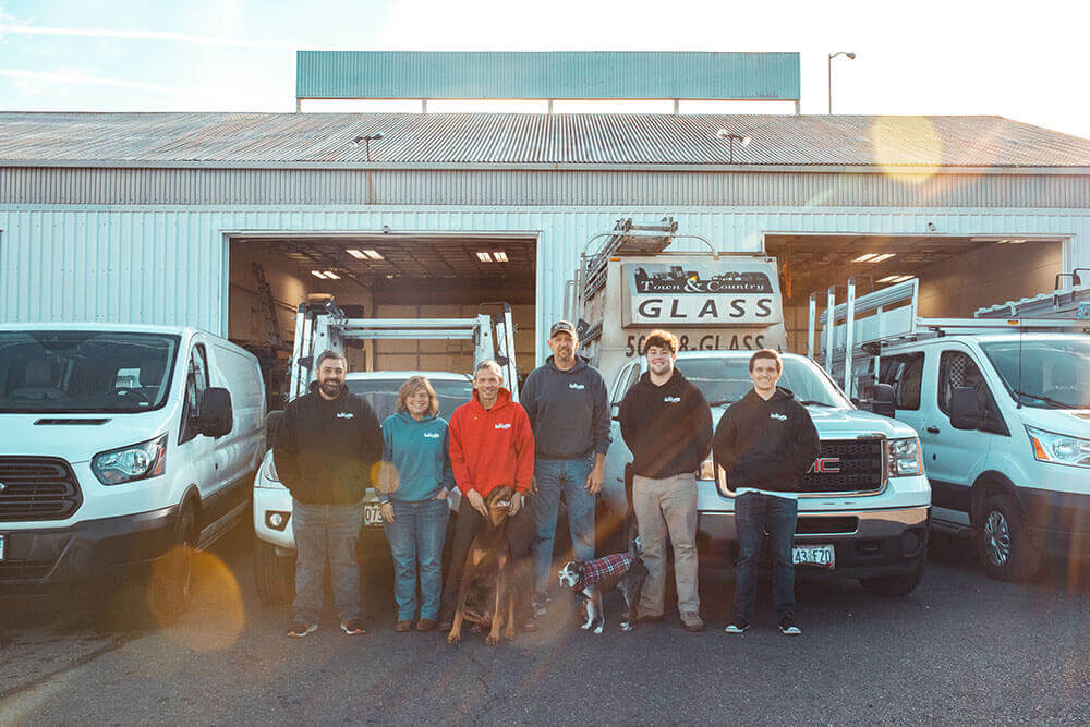 The Tigard shower door repair and installation crew at T&C Glass