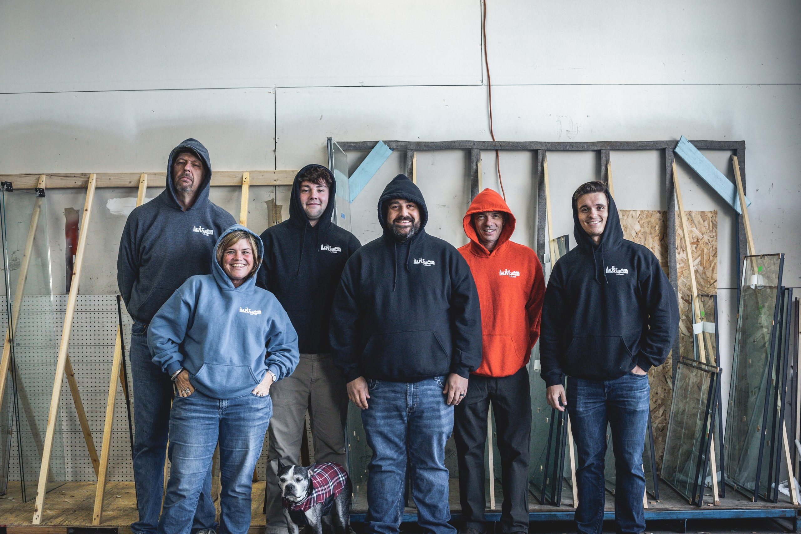 The Milwaukie window repair crew at T&C Glass