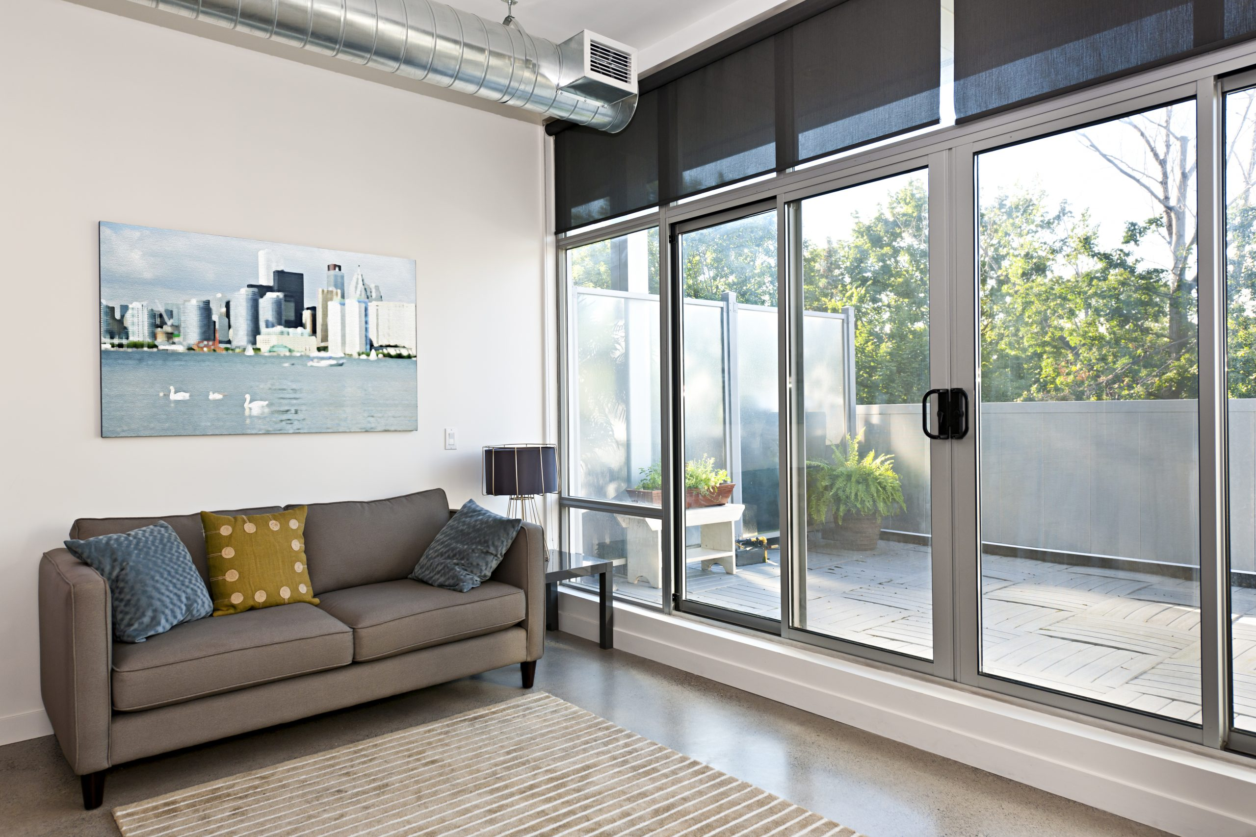An image of a well-installed sliding glass patio door